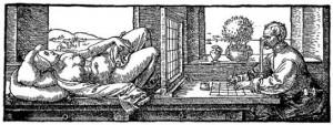 本「測定論」挿絵 木版画(1525年出版)