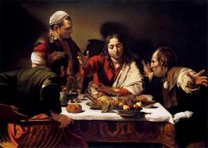 [図10] 「エマオの晩餐」(1600年の作)