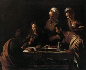 [図11] 「エマオの晩餐」(1606年の作)