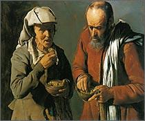 [図16] 「豆を食べる人々」