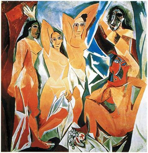 (fig.1)Picasso,Avignon-Ladies,1907