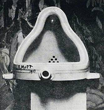 (fig.2)Duchamp, Fountain. 1917.