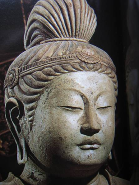 (fig.6)Kimimaro, Gakko Bosatsu,detail, Todaiji temple, Nara